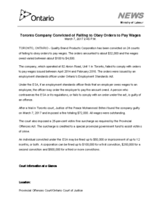 toronto-company-convicted-of-failing-to-obey-orders-to-pay-wages